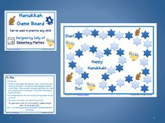 Hanukkah Game Board  - pinned by @PediaStaff – Please Visit ht.ly/63sNtfor all our pediatric therapy pins