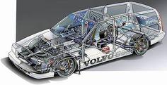 Volvo 850T5R wagon fot BTCC cutaway