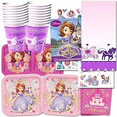 Disney Sofia the First Party Supplies Ultimate Set-- Party Favors, Birthday Party Decorations, Plates, Cups, Napkins and More! - https://www.partysuppliesanddecorations.com/disney-sofia-the-first-party-supplies-ultimate-set-party-favors-birthday-party-decorations-plates-cups-napkins-and-more.html