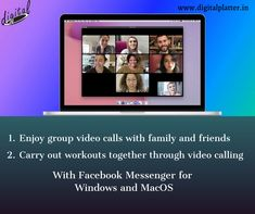 Facebook addresses Quarantine!!  Keeping people connected virtually when can't meet in person has been of most importance in any situation. Facebook messenger app for MacOS and Windows has been launched for group video calling, etc. to be a savior in such situations.  #DigitalPlatter #DigitalMarketingCompany #Facebook #FacebookMessenger #DesktopMessenger #DesktopMessengerApp #Windows #MacOS #CoronaVirus #Covid19 #StaySafe #Quarantine #Corona #SocialMedia #VideoCalling #AudioCalling Digital Marketing Services, Email Marketing, Content Marketing, Social Media Marketing, Facebook Messenger, App Development, Image Sharing, Savior, Product Launch