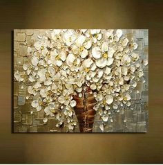 60*70 CM. KNIFE OIL PAINTING ON CANVAS FLOWER ABSTRACT  MODERN HOME WALL DECOR #Modern