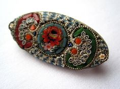 Vintage Micro Mosaic Brooch  Miniature Mosaic by VintageInBloom, $24.00