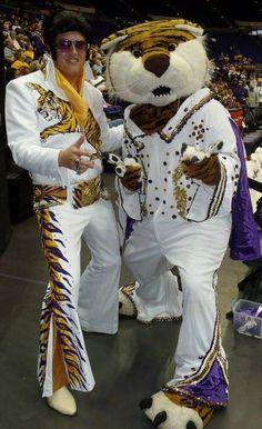 Elvis and LSU Tigers mascot