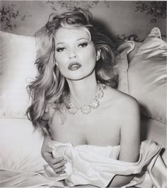 Kate Moss photographed by Bryan Ferry for the cover of his album Olympia, 2011.