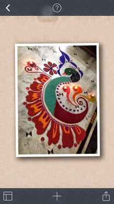 Peacock Rangoli designs are pretty common in Rangoli designs.
