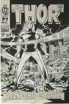 Jack Kirby and Vince Colletta Thor #145 Cover Original | Lot #92141 | Heritage Auctions