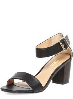 Black block heel sandals - Low & Mid Heels - Heels - Shoes