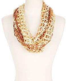 Another great find on #zulily! Brown Ombré Fishnet Infinity Scarf by Jasmine Trading Corp #zulilyfinds