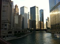 The Chicago River from Michigan Ave bridge.