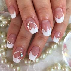 Wedding Nails Elegant Bridal Nails - Enchanting Ideas for your DIY Wedding Manicure A . Wedding Nails For Bride, Bride Nails, Wedding Nails Design, Wedding Manicure, Wedding Nails Art, Wedding Art, Bling Wedding, Bridal Nails Designs, Wedding Ideas