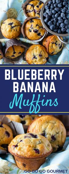 Move over lemon, blueberry and banana is the new flavor combo for spring! These Blueberry Banana Muffins are the BEST easy breakfast recipe! Chock full of blueberries and packed with banana, these easy muffins are sure to be a hit with everyone! Yummy Recipes, Cooking Recipes, Yummy Food, Banana Blueberry Muffins, Blue Berry Muffins, Blueberry Desserts, Blueberry Ideas, Breakfast Muffins, Breakfast Recipes