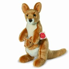 £27. World of bears. is a 31cm tall soft toy made by the German Brand  Hermann Original. She is made of a luxury soft plush and comes complete with her removeable baby. Machine washable 30c. Made combining high quality with design and both safety and quality tested by TUV Rheinland.