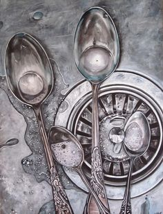 spoons-in-sink-painting-lillian-bell.jpg (687×900)