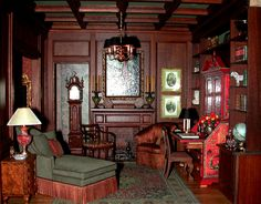 Man's sitting room 1:12 scale by Whitledge-Burgess.