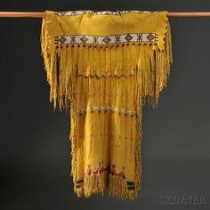 Southern Cheyenne Beaded Hide Dress, c. mid-20th century
