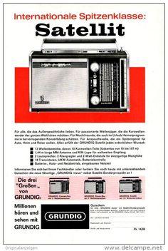 Original-Werbung/ Anzeige 1966 - 1/1-SEITE - GRUNDIG SATELLIT KURZWELLEN - RADIO - ca. 150 X 230 mm