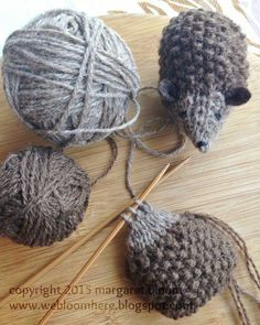 Hans my Hedgehog  has always been one of my favorite fairy tales and a few days ago I got it into my head to knit some hedgehogs.      ...