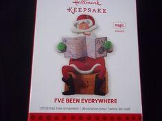 Hallmark 2013 Christmas Ornament  I've Been Everywhere Magic Sound NIB Santa