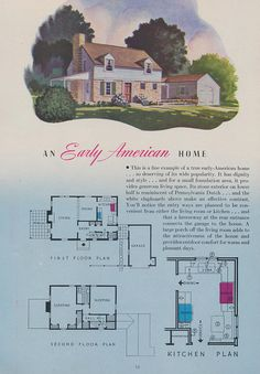 An Early American Home Page 14 of a 1944 brochure brought to you by the Nash-Kelvinator Corp.