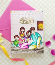 Diwali card, Time out challenges, Diwali Crafts, Handmade Diwali cards, Craftangles, Copic markers,Quillish, Diwali Cards, Easy Crafts, Crafts For Kids, Arts And Crafts, Paper Crafts, Quilling, Happy Diwali, General Crafts, Time Out