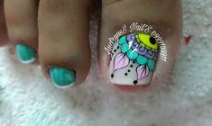 Nail Polish Art, Toe Nail Art, Toe Nails, Nailart, Pedicure, Turquoise, Yoshi, Make Up, Country