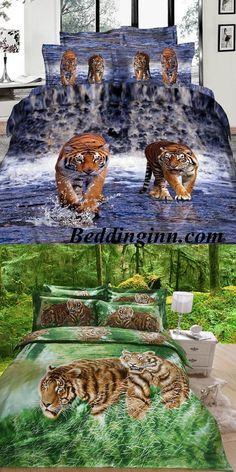 #tiger #3d #beddingset Buy link-->http://goo.gl/UZpX10 Discover more-->http://goo.gl/LsxNCH Live a better life,start with @beddinginn http://www.beddinginn.com/product/Amazing-Lifelike-Tiger-in-Water-3D-Print-4-Piece-Bedding-Sets-Duvet-Cover-Comforter-Sets-10570427.html