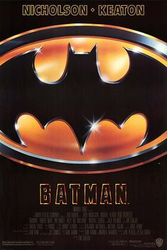 Batman, directed by Tim Burton, Starring Jack Nicholson, Michael Keaton and Kim Bassinger (1989)