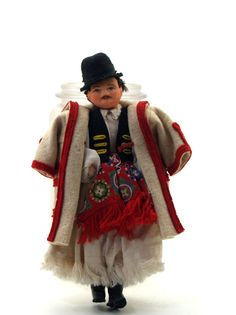 Vintage Male Doll Traditional Hungarian Folk by PhoebesFind Folk Costume, Costumes, Hungary, Folk Art, Traditional, Dolls, Etsy, Vintage, Clothes