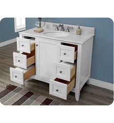 Fairmont Designs 1512 V42 Shaker Americana 42 Inch Vanity In Polar White  42 Inch Bathroom Vanity