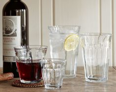 Picardie Glass Tumblers | Williams-Sonoma $79 (for six sets of 4 sizes)