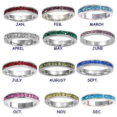 I want one for each girl!! Stackable Stainless Steel Birthstone Ring by SnowMountainDesigns, $13.00