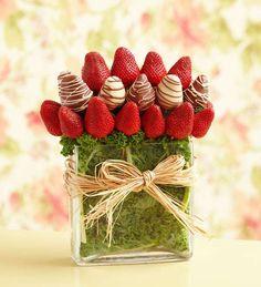 Bouquet di frutta golosi - Bouquet di fragole e cioccolato
