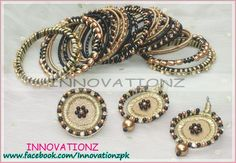 Beautiful Combo of Bangles, Earrings n Ring By Innovationz www.facebook.com/Innovationzpk