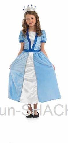 Blue Princess Fancy Dress Costume Fun Shack