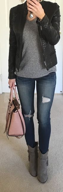 Black Moto Jacket Outfit + Express Reviews | On the Daily EXPRESS