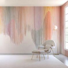 Contemporary Interior Design, Home Interior Design, Interior Modern, Modern Contemporary Art, Interior Design Wallpaper, Wallpaper Designs For Walls, Interior Decorating, Pastel Interior, Interior Sketch