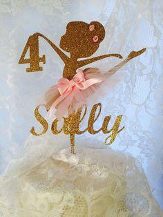 Ballerina Cake Topper Ballerina Themed by MemoryKeepsakeParty