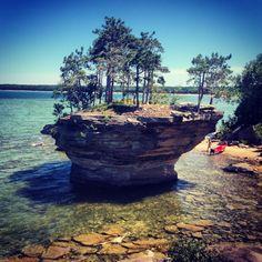 Turnip rock in Michigan! Beautiful sight