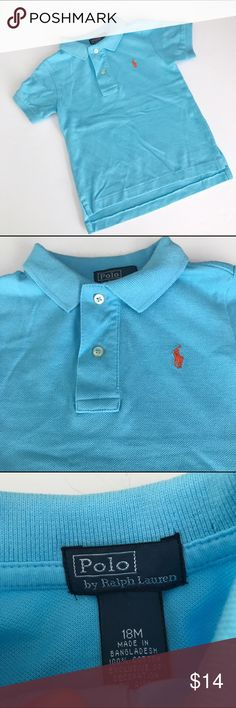 Ralph Lauren Turquoise polo shirt Gently used in very good condition. Has orange embroidered logo Ralph Lauren Shirts & Tops Polos