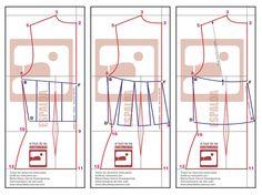Trazado del molde básico y transformación espalda Crop Top