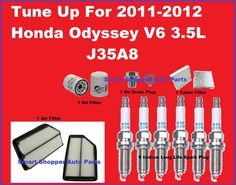 Tune Up 2011-2012 Honda Odyssey Spark Plug, Air, Cabin, Oil Filter, Oil Drain Pl #AftermarketProducts