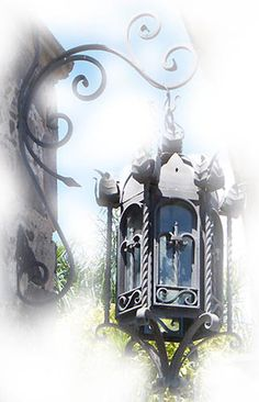 Rustica House  forged outdoor lantern was produced of hammered iron. The lantern #8R910 is available with oxidized finishing, unfinished or painted black. #myRustica