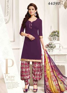 9b705b179 Buy indian salwar kameez online with the finest collection of indian salwar  suit. Order this fetching pure crepe designer patila salwar suit for casual  and ...