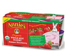 Free Annie's Organic Whole Milk Yogurt at Jewel, Shaws & Star