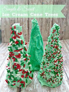 Ice Cream Cone Trees Recipe! Holiday Baking Treats for Christmas!