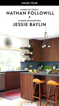 Calling all Kings of Leon and Jessie Baylin fans! The stools add some great character to this mid-century modern.