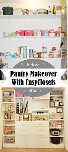 DIY Home Sweet Home: EasyClosets Pantry Organizing System - The Reveal Fridge Organization, Pantry Storage, Organization Hacks, Organized Fridge, Organizing Tips, Diy Storage, Pantry Makeover, Home Improvement Projects, Home Kitchens