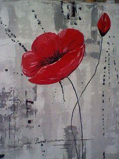 acrylique peinture en 3d - Recherche Google Abstract Flowers, Abstract Art, Wine And Canvas, Beginner Art, Modern Impressionism, Paint And Sip, Red Poppies, Art Tutorials, Diy Art