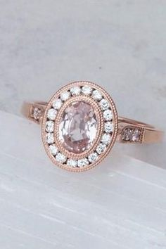 Halo perfection  . | Engagement Ring, Engagement, Proposal, Unique, Modern, Classic, Alternative, Ethical, Dainty, Wedding, Non-Traditional, Elegant, Love, Coloured, Rose Gold, Sapphire, Gemstone, Vintage, Jewelry, Simple, Birthstone | . #EngagementRing #Engagement #Proposal #Wedding #RoseGold #Sapphire #Gemstone #Jewelry #PGJ