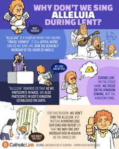 """Infographic: Why don't we sing """"Alleluia"""" during Lent?"""
